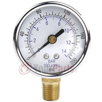 14 200 Psi Compressor Compressed Air Pressure Gauge Side Mount 2 Face