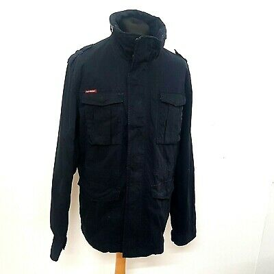 Superdry Mens Miltary Jacket Parka Size 3XL Navy Blue Rookie Edition