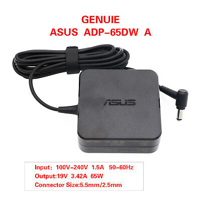 - NEW Genuine ASUS Laptop Charger AC Adapter Power Supply ADP-65GD 19V 3.42A 65W