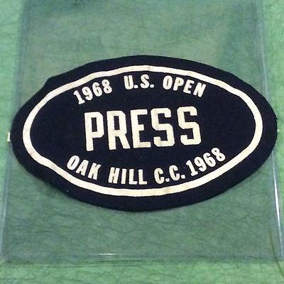 cb94cf2bb34 1968 U S OPEN GOLF CHAMPIONSHIP PRESS ARM BADGE OAK HILL CC NEW YORK TREVINO