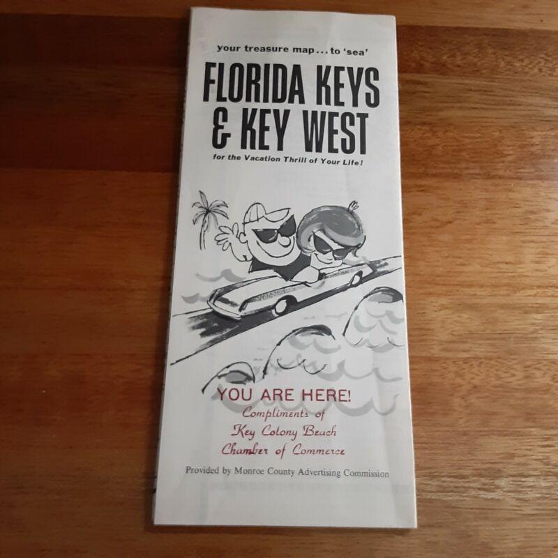 VTG FLORIDA KEYS & KEY WEST CAR CRUISE VACATION MAP