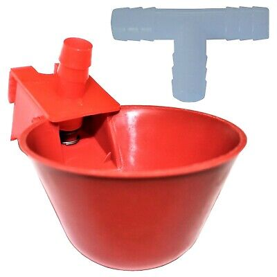 12 Rite Farm Products Auto Waterer Drinker Cup Barbed Fitting Chicken Poultry