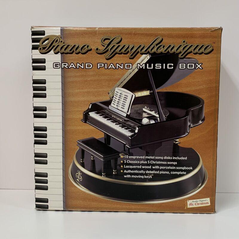 Mr. Christmas Collection Piano Symphonique Grand Piano Music Box BRAND NEW 2000