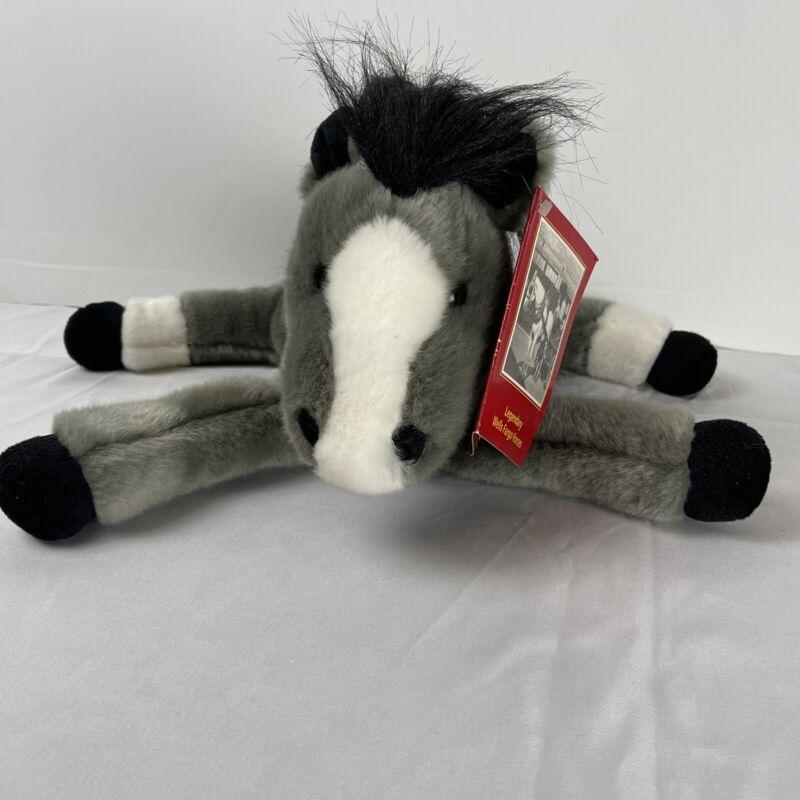 NWT Wells Fargo Bank PRINCE Plush Soft Legendary Horse Pony Grey Black White #B