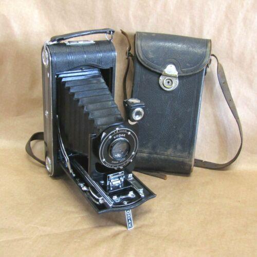 Antique Art Deco Kodak No 3A Series 2 Folding Camera w/Leather Case MP545