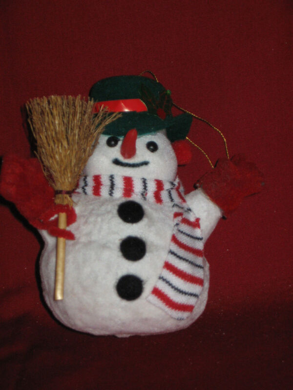 Snowman Christmas Tree Ornament 4 inches tall