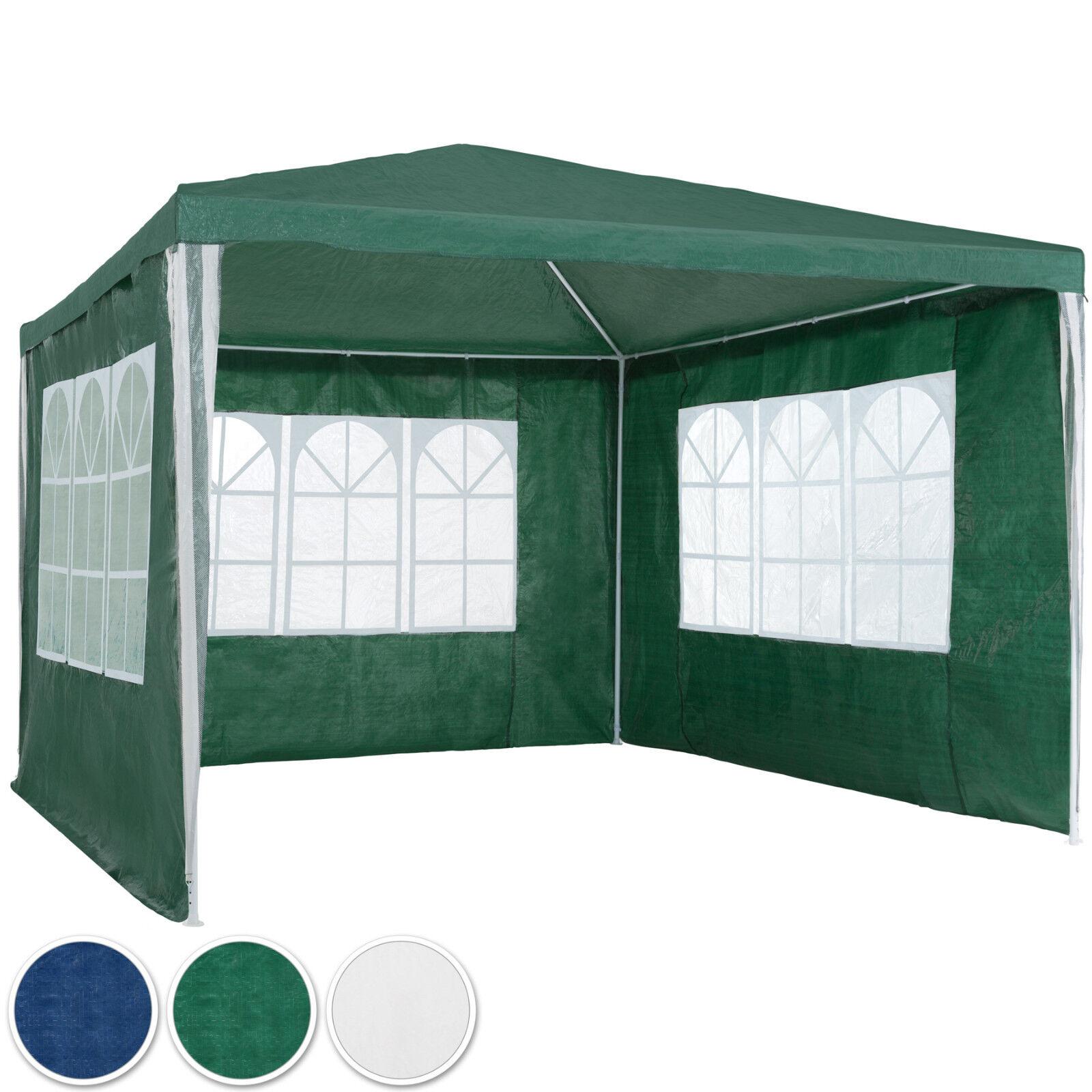 Gazebo da giardino tendone tenda per festa party con parti laterali 3x3 m