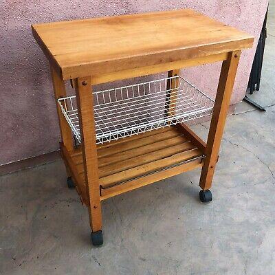 Wood Rolling Cart