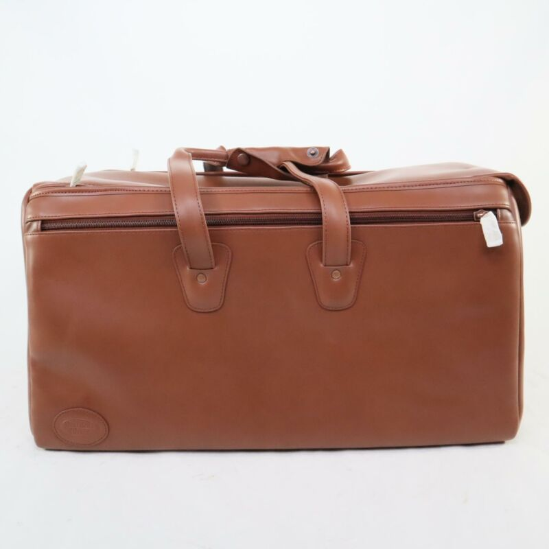 Reunion Blues Brown Leather Triple Trumpet Gig Bag NEW OLD STOCK