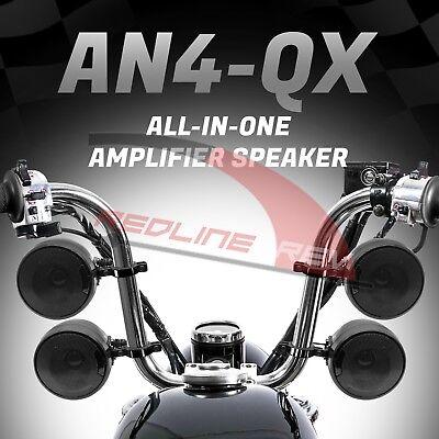 1200W Amp Waterproof Bluetooth Motorcycle Stereo 4-Speakers Audio Routine ATV UTV