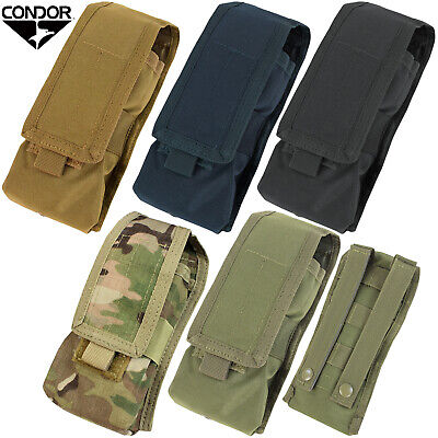 Condor MA9 Tactical Radio Pouch MOLLE Compatible w/ Hook and Loop Bungee Flap