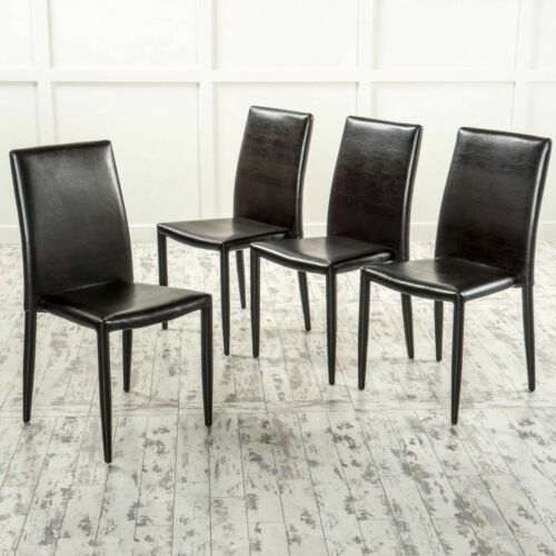 Pasiara Contemporary Brown Stacking Chairs (Set of 4) Chairs