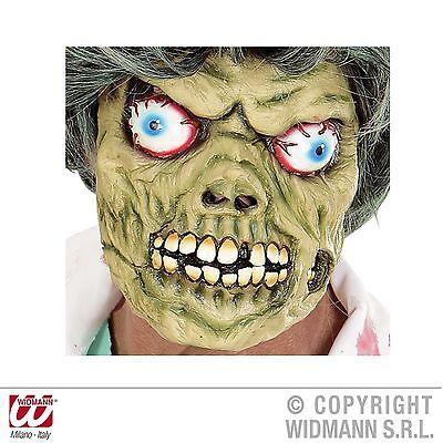 Latexmaske Zombie Horror Halb Maske Glubsch für Erwachsene Halloween Karneval