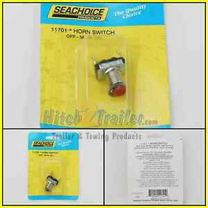 Marine Boat RV SPST Momentary On Red Push Button Pushbutton Horn Switch 50-11701