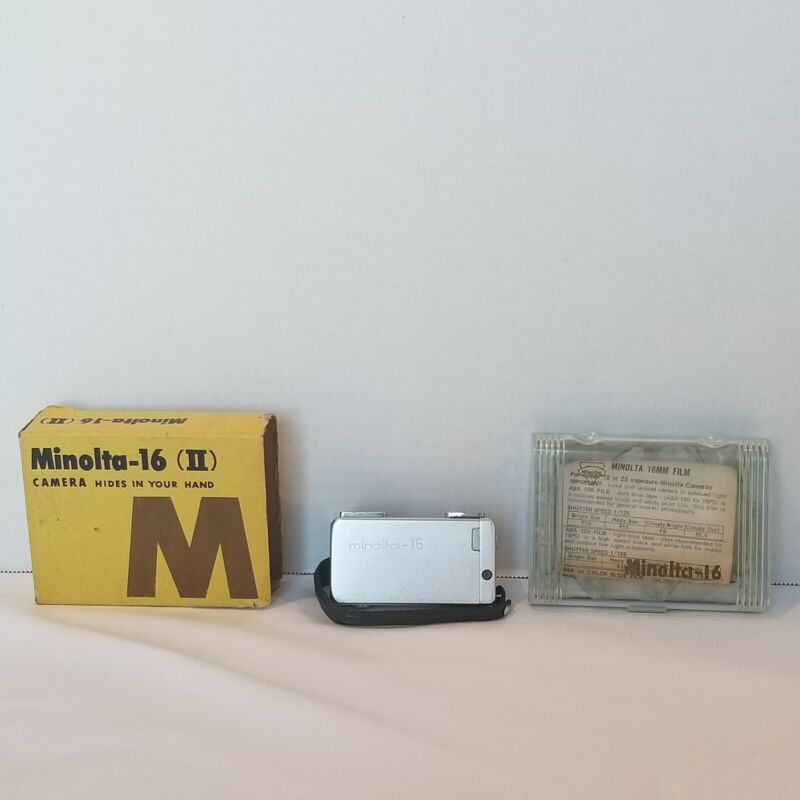 Vintage Minolta 16 II Subminiature Spy Camera With Original Packaging