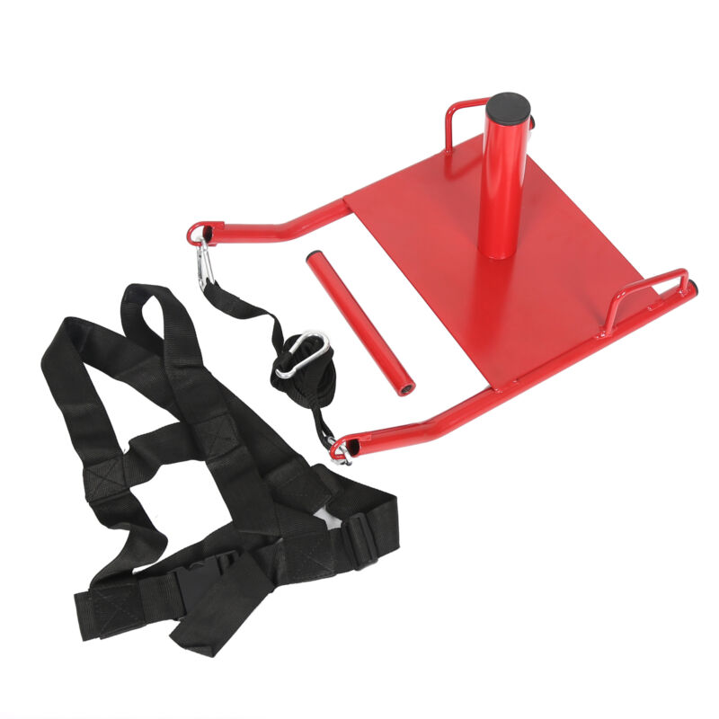 Power Speed Sled + Harness Weighted Drag Sports Crossfit Running Football