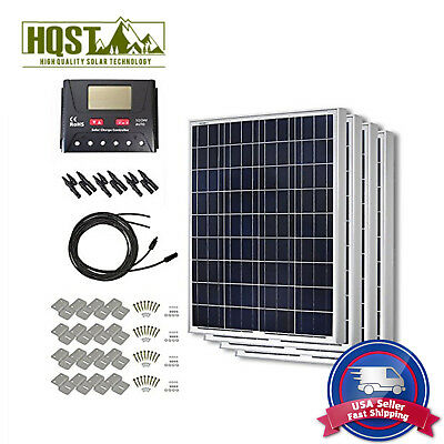 400W Solar Panel 400 Watts Poly Kit 12V Rv Boat Off Grid System W O Tray Cable
