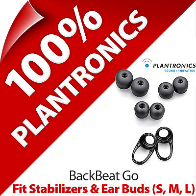 Plantronics Fit Kit 2 x Stabilizers + Ear Gels Buds (S, M, L) for BackBeat Go Plantronics, Ear Gels