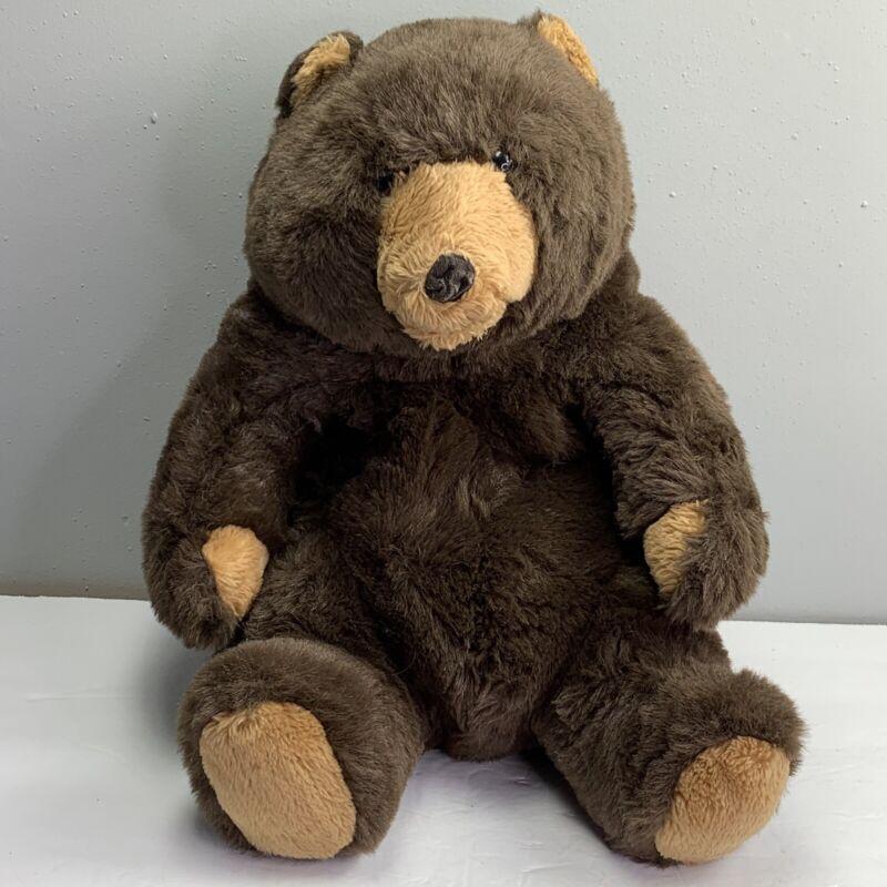 """Vintage Feelix Plush Brown Bear Filenes Dept Store 1986 16"""" Large Sitting Papa"""