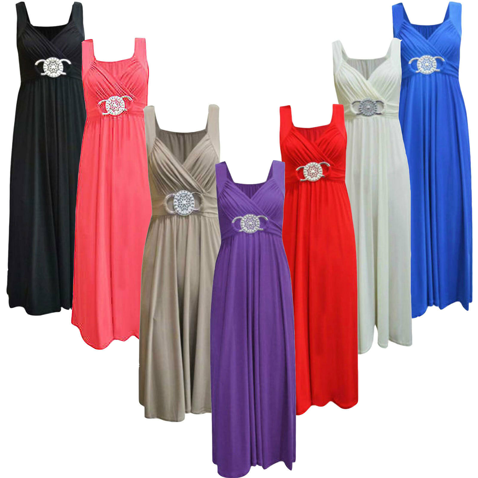 Ladies wedding guest bridesmaid sleeveless cocktail for Ebay wedding guest dresses