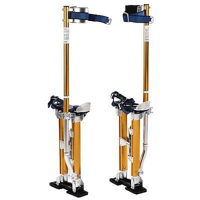 18-30 Aluminum Drywall Stilts Dual Spring Drywall Painting Work Stilts Yellow