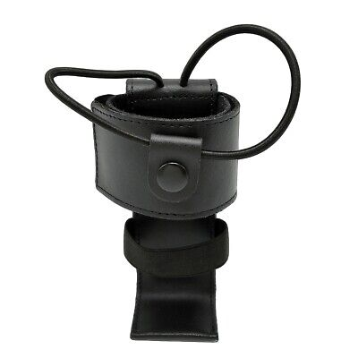 Cobra Tufskin Genuine Leather Universal Police Radio Holder Ems Black Hardware