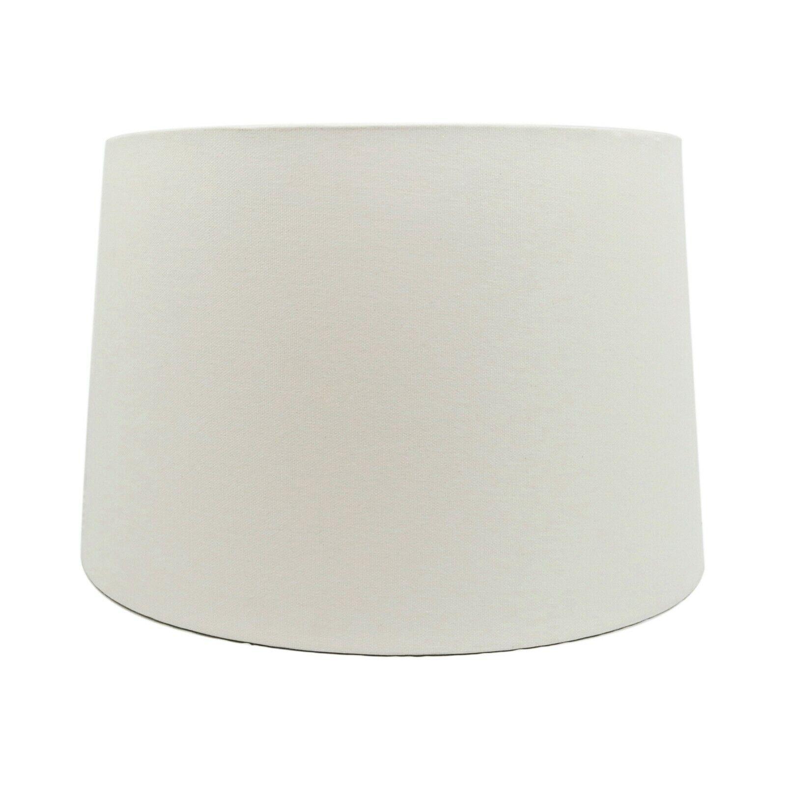 White Fabric Hardback Drum Lampshade for Table Lamp Floor La