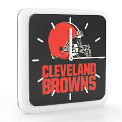 3 in 1 NFL Cleveland Browns Home Office Decor Wall Desk Magnet Clock 6 inches