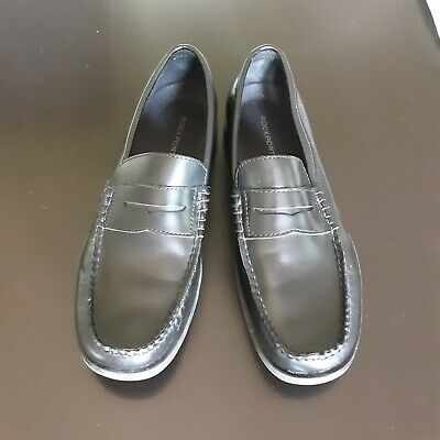 Classic Leather Penny Loafers - Rockport Mens Classic Black Penny Loafers Size 9 Comfort Leather