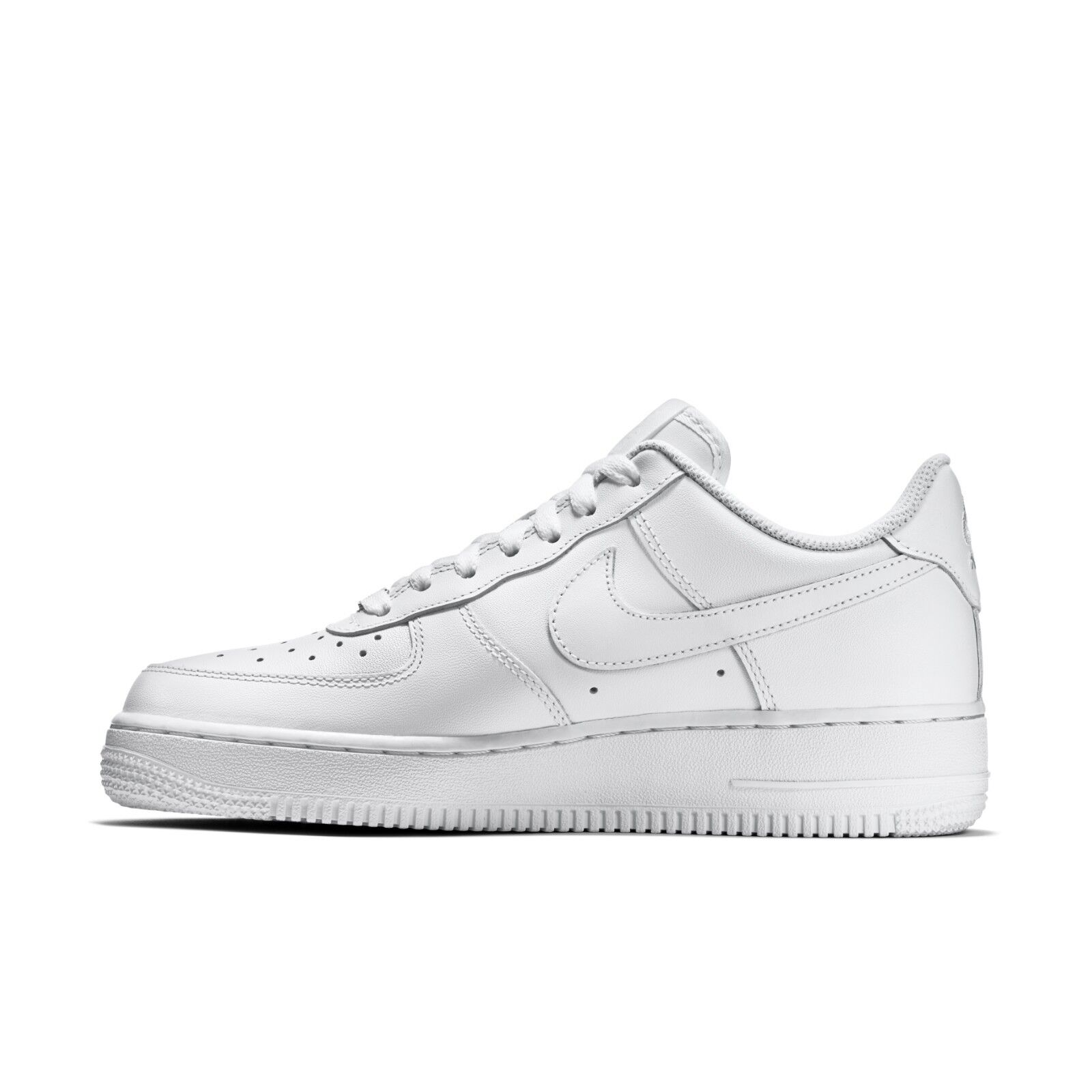 Nike Air Force 1 07 LE Low All Triple White 315115 112 Womens 5 11 | eBay