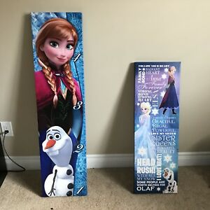 EXCELLENT CONDITION FROZEN CANVAS ART/GROWTH CHART