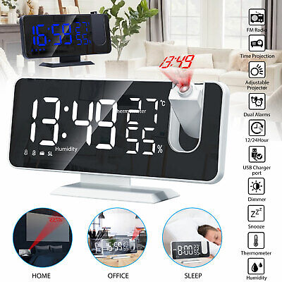 7.2inch FM Radio Digital LED Projection Alarm Clock Snooze U