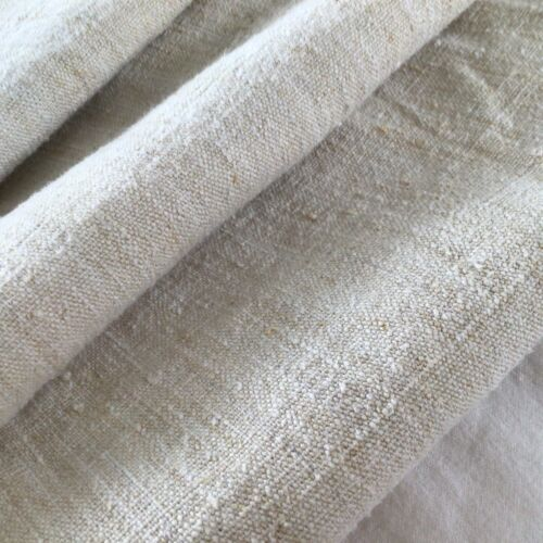 Lovely  19th Century French Hemp Yardage Rustic Nubby YUM!