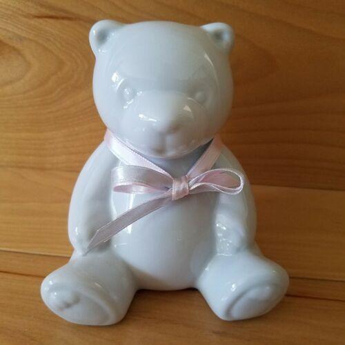 Porcelain Teddy Bear Bank 4 Inches