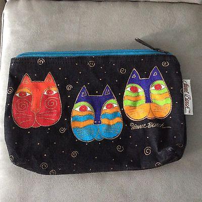 Laurel Burch Bag WHISKERED CAT Kitten Face Purse ORANGE RED BLACK