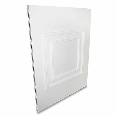 White UPVC Hanover Half Door Panel MDF Reinforced Raised Moulded 24mm 28mm PVC