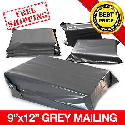 50x GREY STRONG MAILING MIXED BAGS PLASTIC POSTAL MAIL   9x12