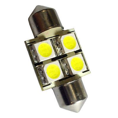 HQRP 31mm Base 4 LEDs SMD5050 Bulb for 3175 DE3175 6428 DE6428 6430 Boat Yacht