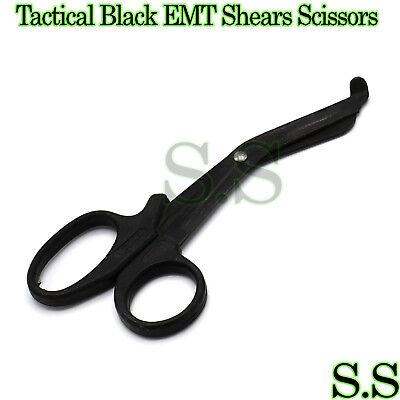 Tactical Black - Emt Shears Scissors Bandage Paramedic Ems Supplies 5.5 5.5