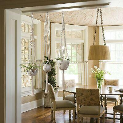 5 piece set macrame plant hanger macrame plant hangers with hooks crochet plant Home & Garden