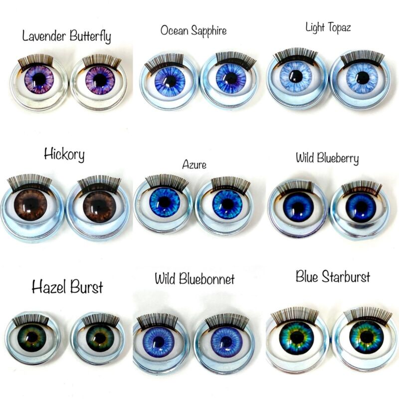 American Girl Custom Open Close Doll Eyes *New* Choose from 31 Colors - One Pair