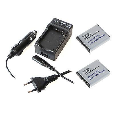 2x Akku und Ladegerät für Sony Cyber-shot DSC-W220 DSC-W230 DSC-W270 DSC-W275 (Sony W220)