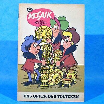 Mosaik 192 Digedags Hannes Hegen Originalheft | DDR | Sammlung original MZ 6