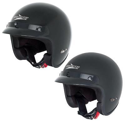 Germot GM 306 Integral Helm matt schwarz orange Motorrad Sonnenvisier Schutz