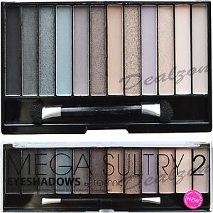 Technic-12-Eyeshadow-Mega-Sultry-2-Palette-Kit-Colours-Make-Up-Eye-Shades-Girls
