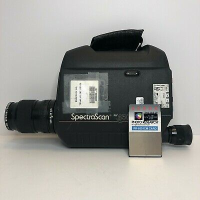 Spectrascan Photo Research Pr-650 Ms-75 Lens Colorimeter Spectrophotometer L2