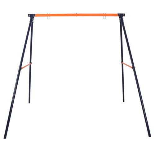 Powder-Coated Steel Swing Set Frame Stand Weatherproof MAX 220 LBs Kids Outdoor Toys & Structures