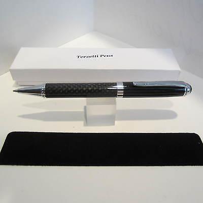 TERZETTI CARBON FIBER BALLPOINT PEN+ POUCH+ GIFT BOX -HEAVY (Heavy Gift Boxes)