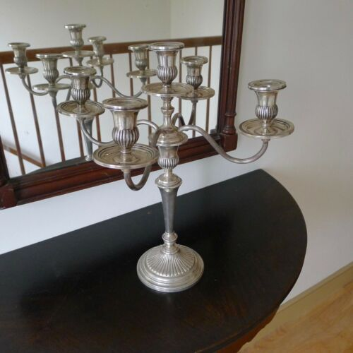 Single Large Theodore B Starr Sterling Georgian Ornate Candelabra Fine Condition