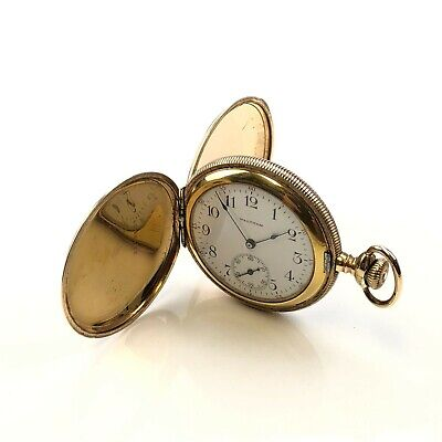 Antique Waltham B&B Royal Gold Filled size 6 Hunter pocket watch runs good